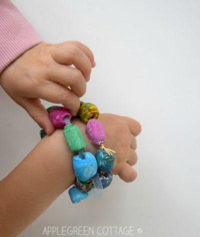 air dry clay bracelet
