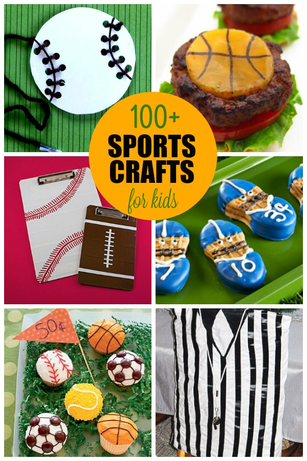 Sports crafts for kids all ages including preschool and for Fun crafts for all ages