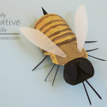 Cardboard Tube Honey Bee