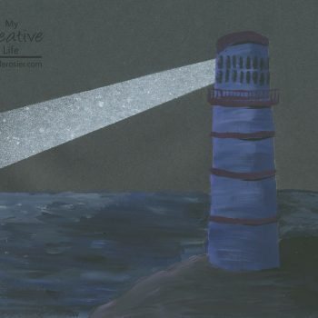 Construction Paper Lighthouse Painting