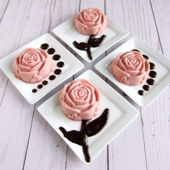 Raspberry Cheesecake Roses