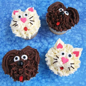 Dog and Cat Cupcakes