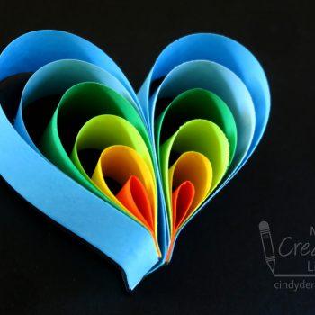 Paper Heart Magnet