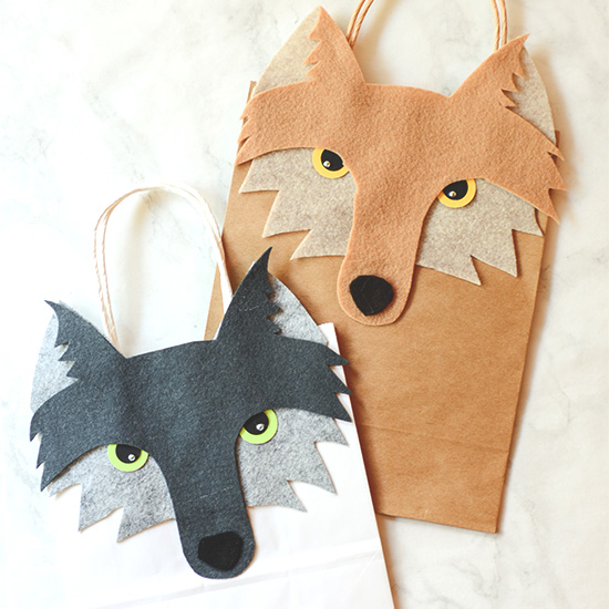 Wolf Gift Bag Fun Family Crafts