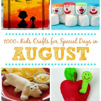 kids crafts for special days in August