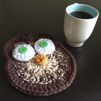 Crochet Spotted Owl Pot Holder