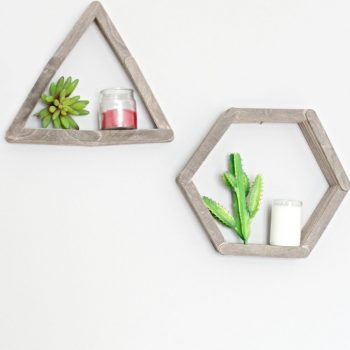 craft stick mini shelves