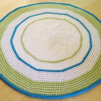 Crochet Round Ringlet Rug