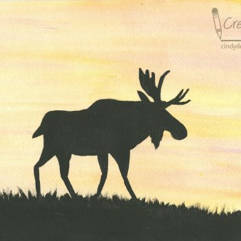 Moose Silhouette Painting