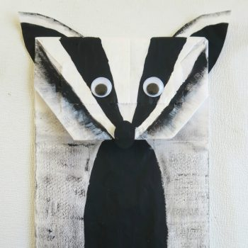 Paper Bag Badger Puppet