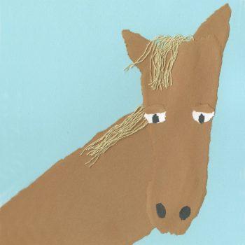 Torn Paper Footprint Horse