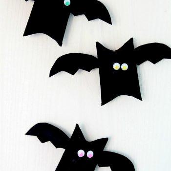 Cardboard Tube Halloween Bats