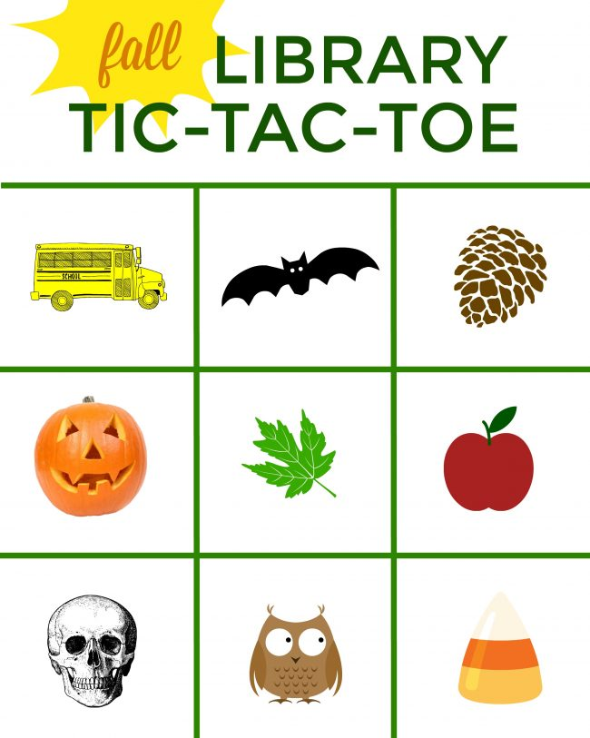 Fall Library Tic Tac Toe Fun Family Crafts