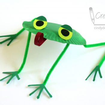Paper Plate Tree Frog