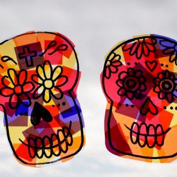 Sugar Skull Sun Catchers