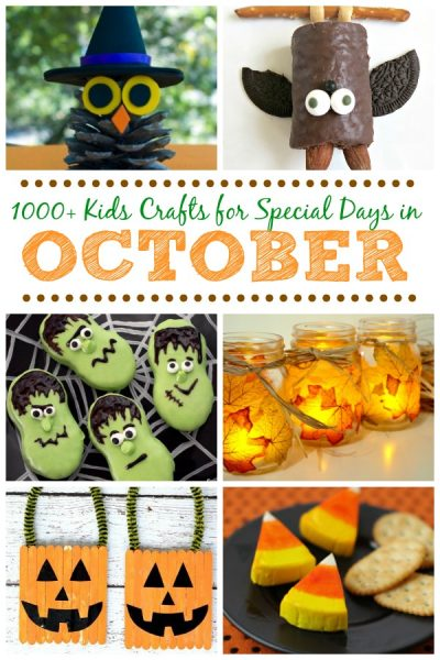 Crafts for special days in October