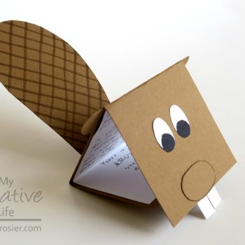 Dimensional Beaver Card