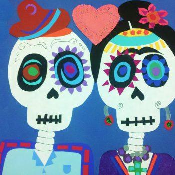 Dia de los Muertos Calavera Collage