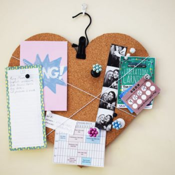 Love Heart Reversible Bulletin Board and Chalkboard