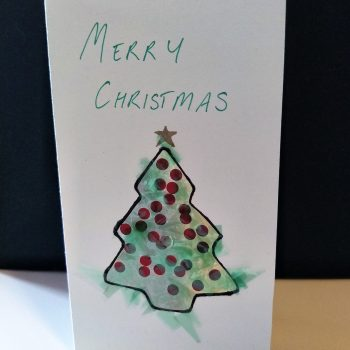 Faux Stained Glass Christmas Tree Card