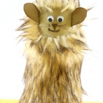 Cardboard Tube Cowardly Lion