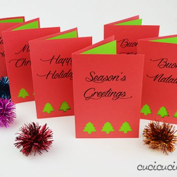 Printable Holiday Cards with Punched Cutouts