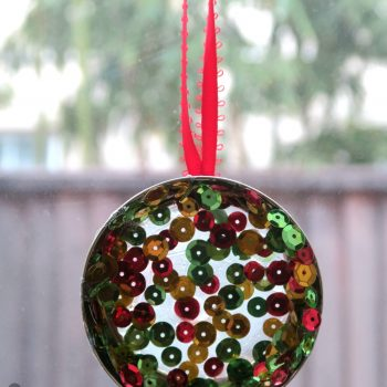 sequin suncatcher Christmas ornament