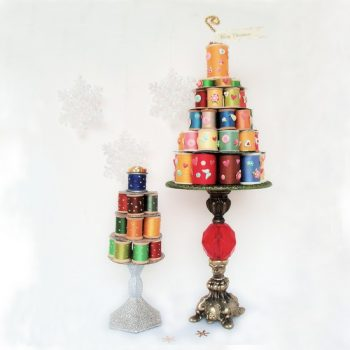 Whimsical Thread Spool Christmas Tree