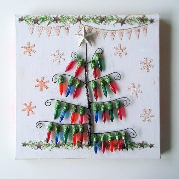 Mini Lights Christmas Tree Picture