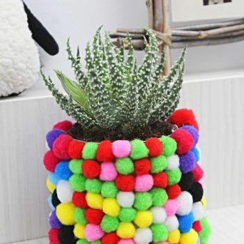 Pom Pom Flower Pot