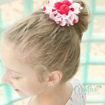 Fabric Flower Hair Ties