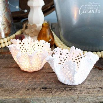 Doily Tea Light Holder