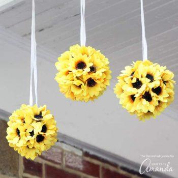Sunflower Kissing Balls