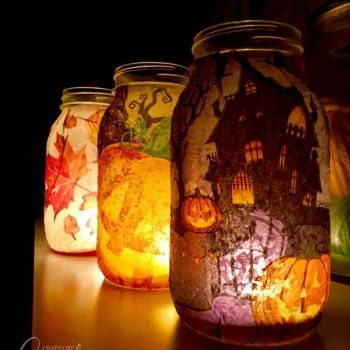 Fall Napkin Luminaries