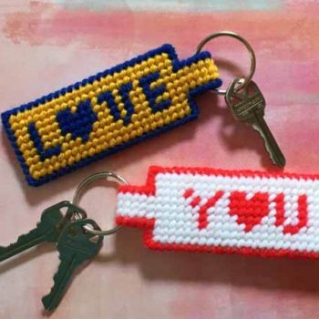 """Love You"" Key Ring"