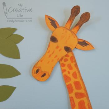 Cut and Color Giraffe