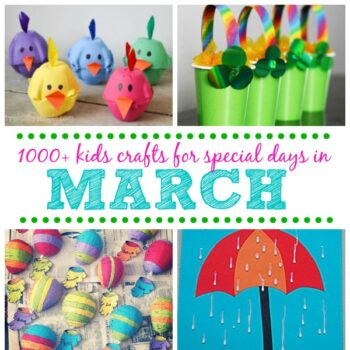 Kids Crafts for Special Days in March