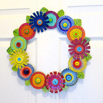 Repurposed Tin Lid Wreath