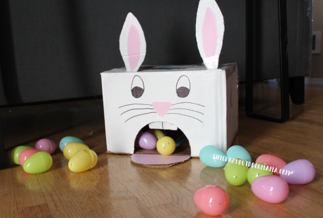 Cardboard Easter Bunny Egg Roll Game Fun Family Crafts