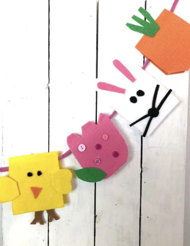 Felt Easter Garland   Fun Family Crafts